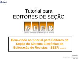 Tutorial para EDITORES DE SEÇÃO
