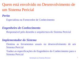 Introdução aos Sistemas Periciais II