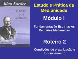 Condições de organização e funcionamento