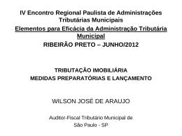 WILSON JOSÉ DE ARAÚJO - Tributação Imobiliária
