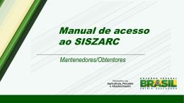 Manual de acesso ao SISZARC
