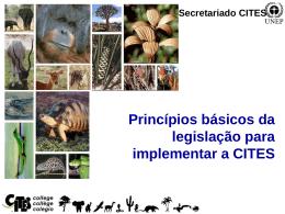 Princípios Básicos da Legislação para Implementar a CITES
