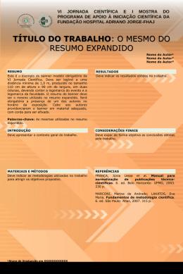 ANEXO 2 - Modelo de Banner - Fundação Hospital Adriano Jorge