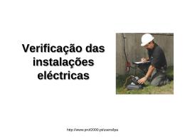 Verificação das instalações electricas.
