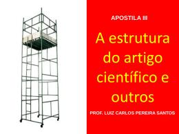 A estrutura do artigo científico