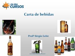 Carta de bebidas - Companhia dos Cursos