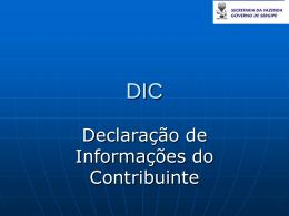 Apresentação da DIC - SEFAZ-SE