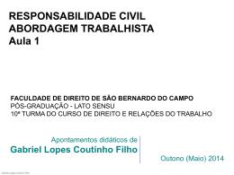 responsabilidade civil - Gabriel Lopes Coutinho Filho