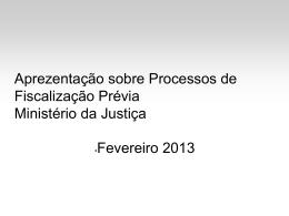 Aprezentação sobre Processos de Fiscalização Prévia