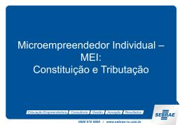 microempreendedor individual – mei – a sua constituição e