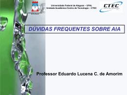 a Licença Ambiental - Universidade Federal de Alagoas