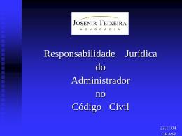 A Responsabilidade Civil dos Profissionais da Saúde