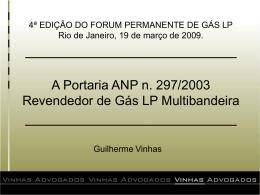 Portaria ANP n. 297/2003.