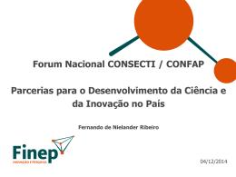 FINEP – Parcerias para o Desenvolvimento da Ciência e