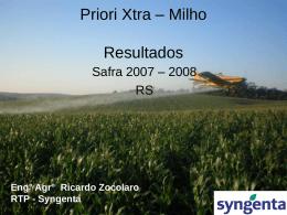 Priori Xtra – Milho Resultados
