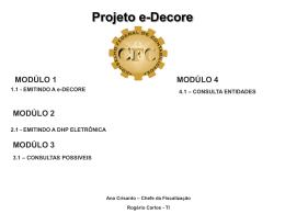 Manual da Decore Eletrônica - CRC-PB