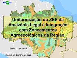 Integrar Zoneamento Agroecológico e ZEE