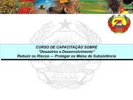 """CURSO DE CAPACITAÇÃO SOBRE """"Desastres e Desenvolvimento"""""""