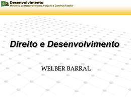 Direito do desenvolvimento - Welber Barral