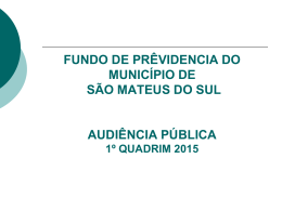audiencia fundo de previdencia 2015