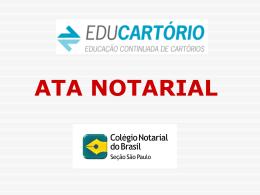 ata notarial - Educartorio.org.br