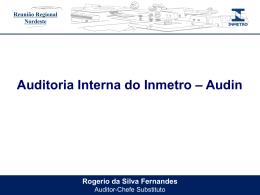 APRESENTAÇÃO AUDIN REGIONAL - Documentos