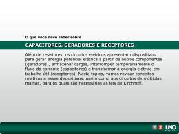 I. Capacitores