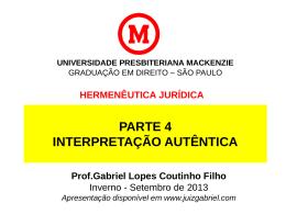 hermenêutica jurídica - Gabriel Lopes Coutinho Filho