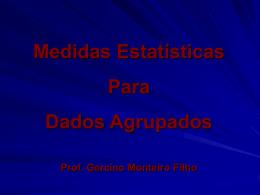 média, mediana, moda, separatrizes e variança para dados