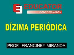 x = GERATRIZ DE UMA DÍZIMA PERIÓDICA