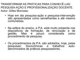 Pesquisa-Ação e Profissionalização docente - PUC-SP