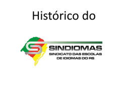 Histórico do SINDIOMAS