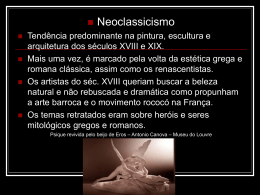 Historia da arte- Neoclassicismo e Romantismo