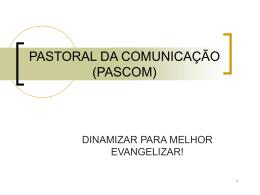 FORMAÇÃO PASCOM. ORATÓRIA (174592)