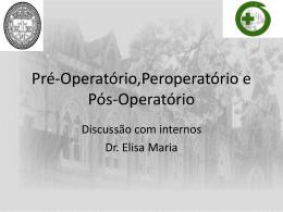 Pré-Operatório