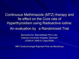JCEM - Metimazol: parar ou não parar antes do I131?
