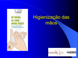 Lavagem das mãos (