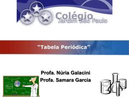 Tabela Periódica - Colégio Jardim São Paulo