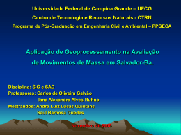 Universidade Federal de Campina Grande – UFCG Programa de