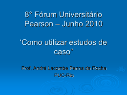 Evento Pearson International `Estudos de caso""