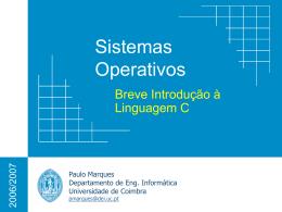 Breve Introdução à Linguagem C