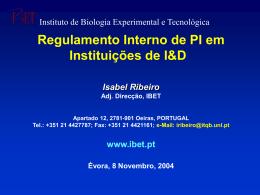 IBET - Instituto de Biologia Experimental e Tecnológica