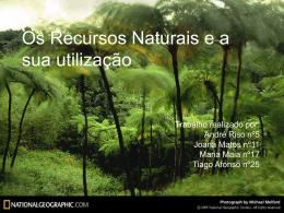 Os Recursos Naturais e a sua utilização - TIC ON-LINE