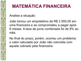 Linguagem da Matemática Financeira