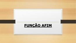 função afim - 2015