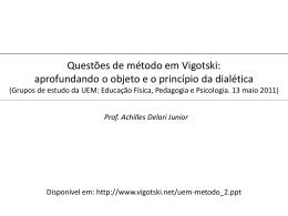 Questões de método em Vigotski