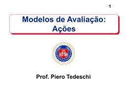 Modelos de Avaliação: Ações