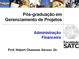 Taxas de Juros - Professor Hubert Chamone Gesser, Dr.