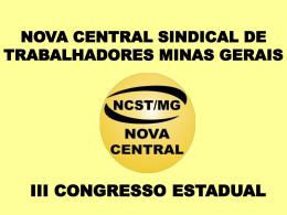 Apresentacao_O_SISTEMA_S - Nova Central Sindical dos