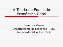 A Teoria do Equilíbrio Econômico Geral